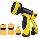 Losun Hose Nozzle, Garden Hose Nozzle with Heavy Duty 10 Adjustable Spray Patterns for Watering Garden, Washing Car and Pets