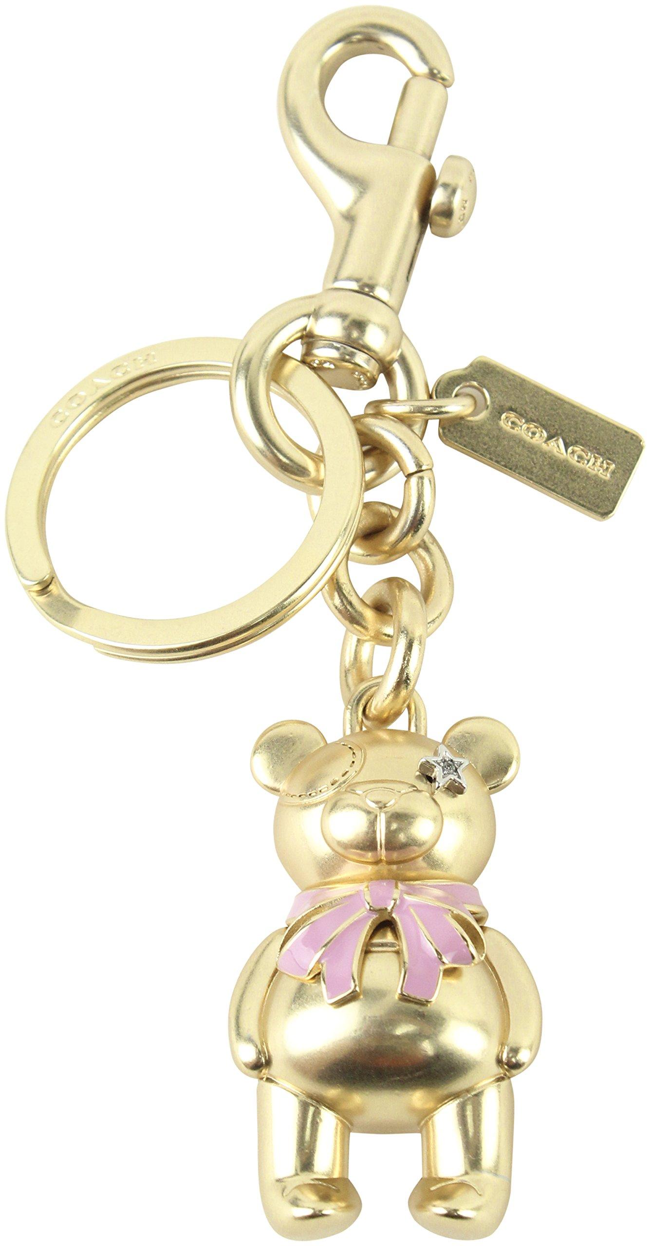 COACH 3 - D Bear Bag / Purse Charm Key Fob / Chain in Gold 87166