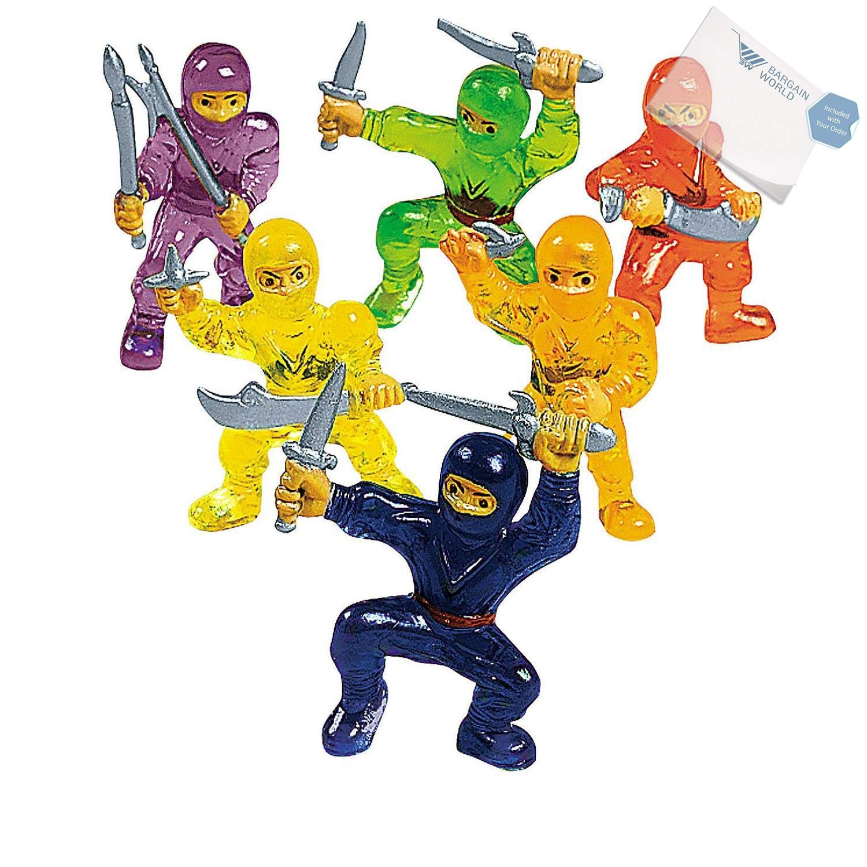 Amazon.com: Bargain World Vinyl Mini Ninja Warriors (With ...