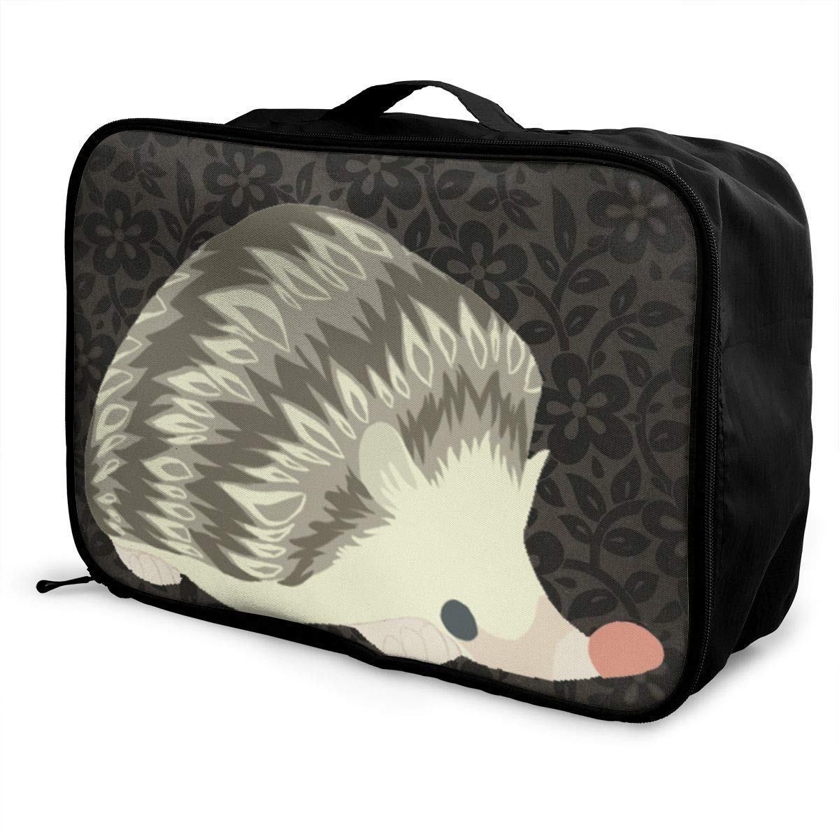 JTRVW Luggage Bags for Travel Portable Luggage Duffel Bag Cute Hedgehog Travel Bags Carry-on in Trolley Handle