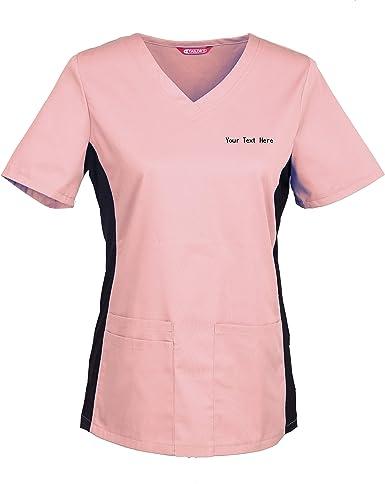 TAILORS Personalizado Personalizable Bordado Blusa médica de Mujer/Uniformes Médicos Enfermera Ddentistas: Amazon.es: Ropa y accesorios
