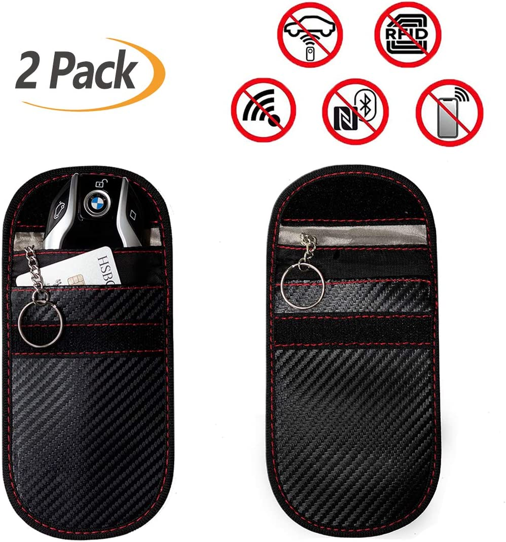 2-Pack Security Wallet for Remote Car Starter ID Guard RFID Signal Blocker UCIN Faraday Key Fob Bag /& Phone Case Antitheft Card Pouch 2 Size Car Key Protector Phones Anti-Hacking Case