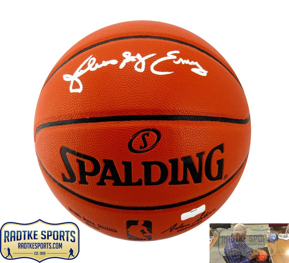 Julius Erving Autographed Signed Spalding Full Size Replica NBA Basketball  with