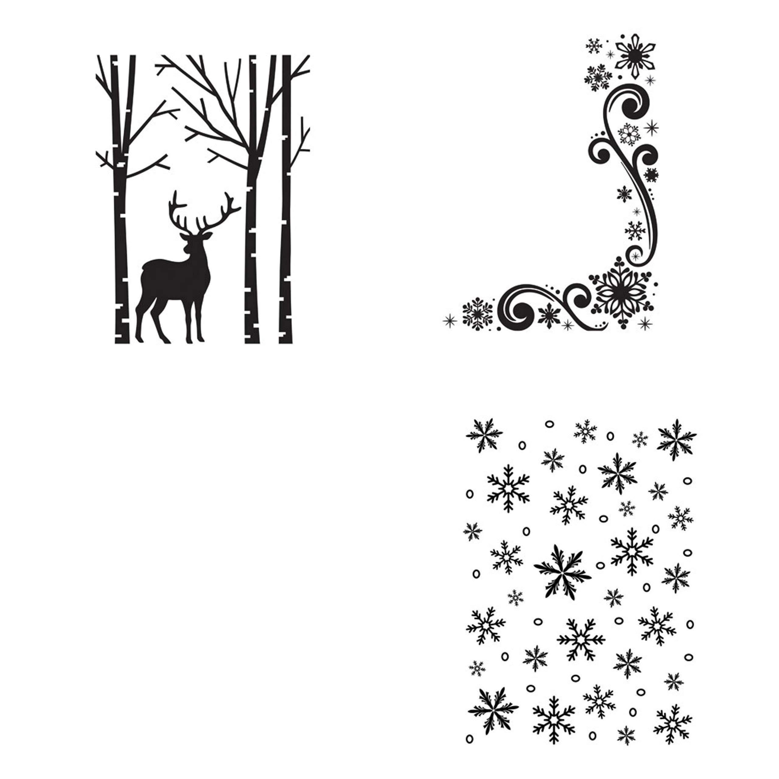 Darice Embossing Folders Winter Theme (Set of 3 Designs) by Darice