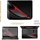 Decalrus MATTE Protective Decal Skin Sticker for ASUS G75 Series G75VW with 17.3in Screen (IMPORTANT: To get correct skin for your device MUST view IDENTIFY image) case cover Matte-G75VW-205
