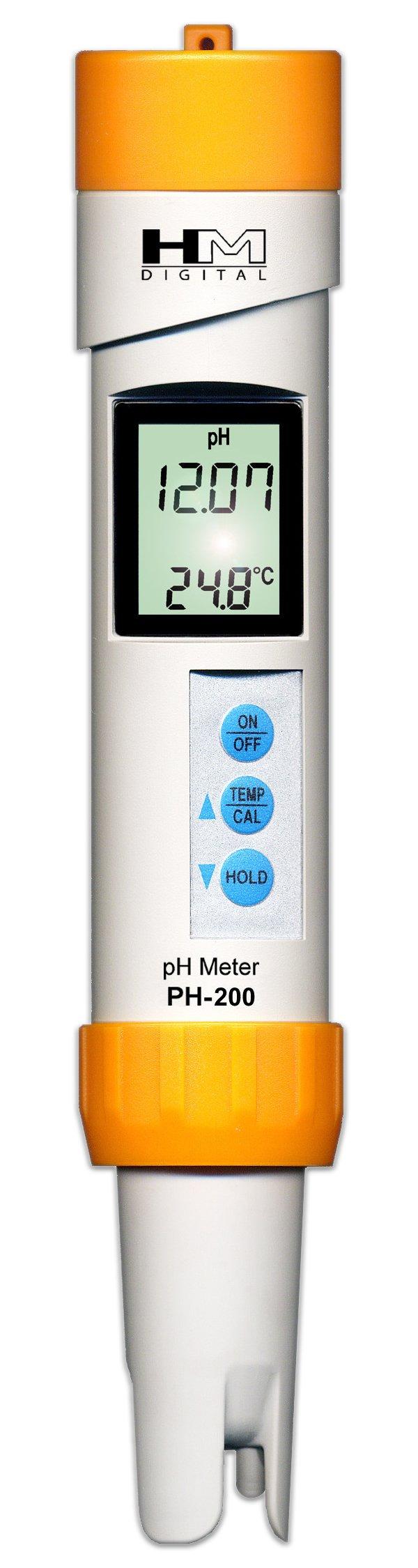 HM Digital PH-200 Waterproof Temperature PH Meter, 3.3'' x 8.5'' x 2'', White by HM Digital