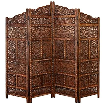 d8561ec88ae42 Amazon.com  Legacy Decor 4 Panel Moroccan Style Hand Carved Solid ...