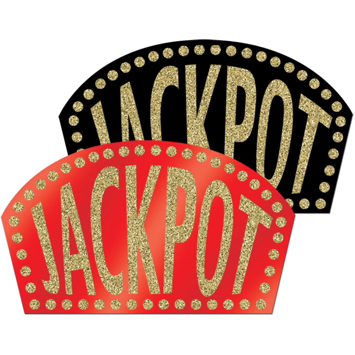 1 count Glittered Jackpot Signs Party Accessory