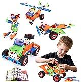 MOONTOY Bloques de Construcción, Aprendizaje Juguetes Juegos de Construcción Engineering Educativa para Niños, Creativa…