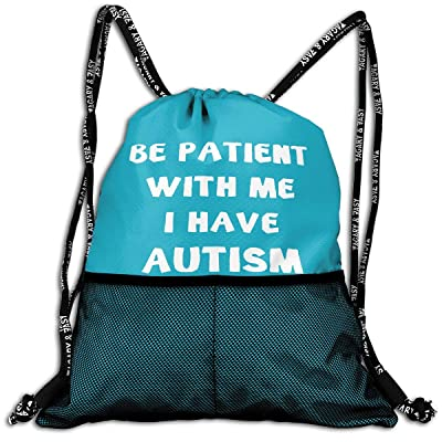 Be Patient With Me I Have Autism Drawstring Backpack