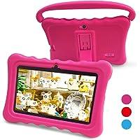 Tablet para Niños,Yue Ying 7 Pulgadas Tablet para Niños con Sistema Operativo Google Android 6.0 y Caso de Silicon,Aplicaciones iWavaHome ya instaladas,Pantalla IPS,ROM de 8 (Pink)