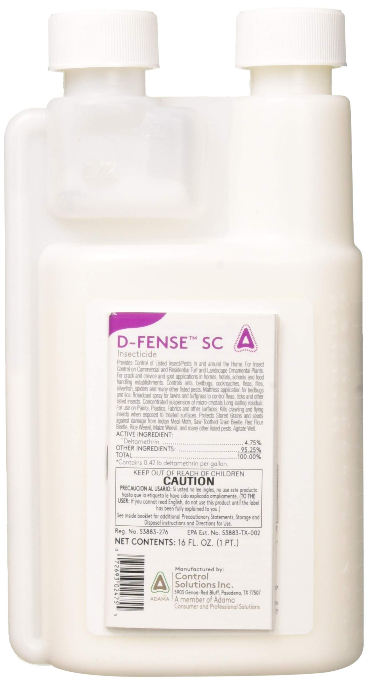 CSI - 10036000373902 - D-FENCE SC - Insecticide - 16oz by Control Solutions