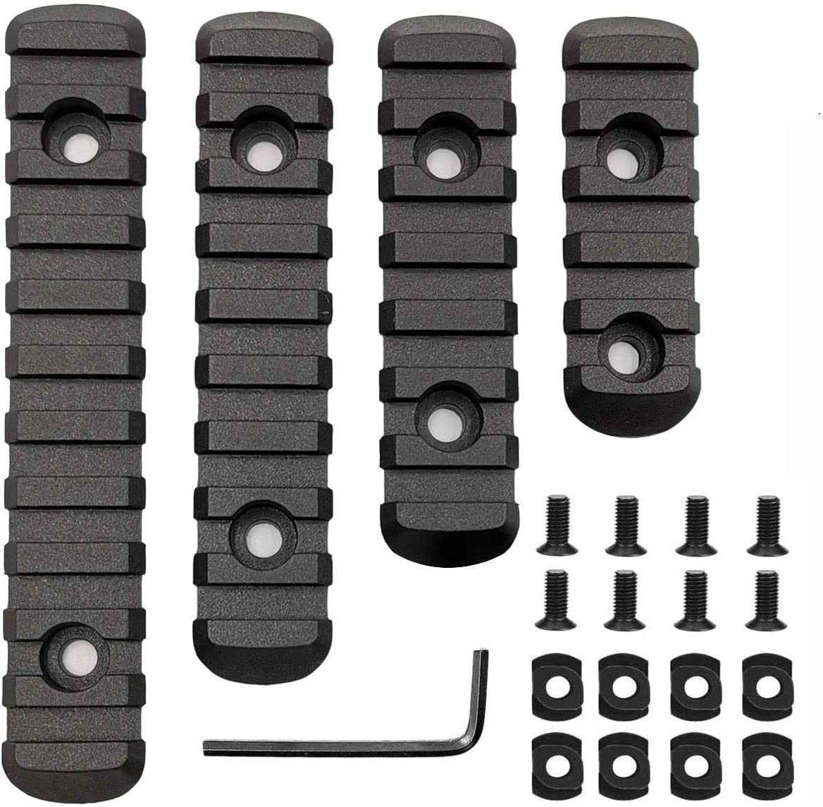 Pecawen Picatinny Rail Section Polymer 5,7,9,11 Slot Picatinny/Weaver Rail for Mloc System