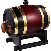 Barril de envelhecimento Hemoton American Oak 1,5 litros, dispensador de uísque barril de vinho tinto de madeira para…