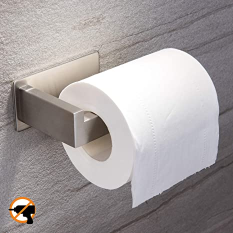 Toilet Roll Holder Self Adhesive 3M Paper for Bathroom Stick on Wall...