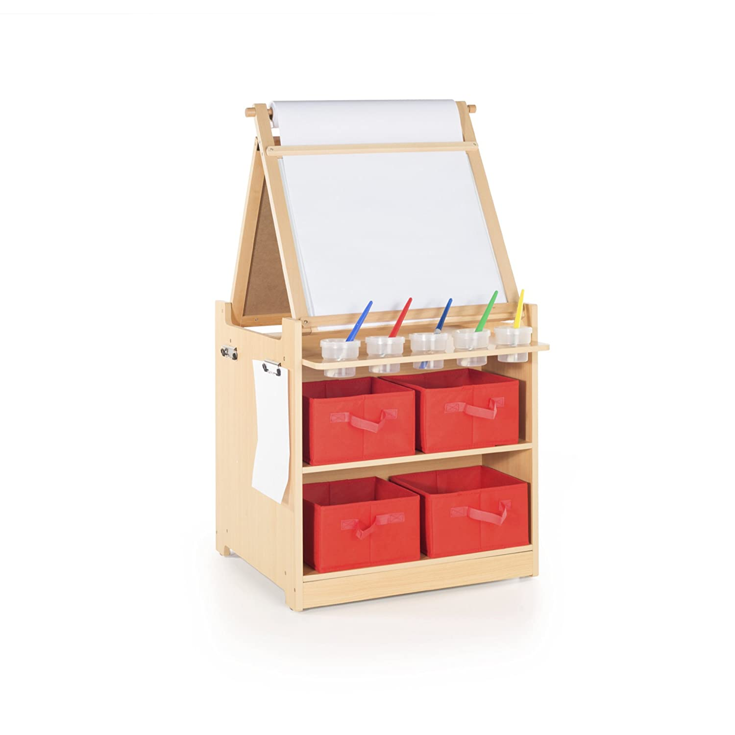Amazon.com: Guidecraft Desk to Easel Art Cart - Chalkboard, Paint ...