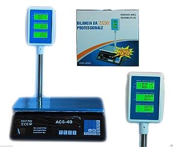 Báscula digital electrónica 40 kg Pantalla LCD electrónico frente Retro Pesa: Amazon.es: Hogar