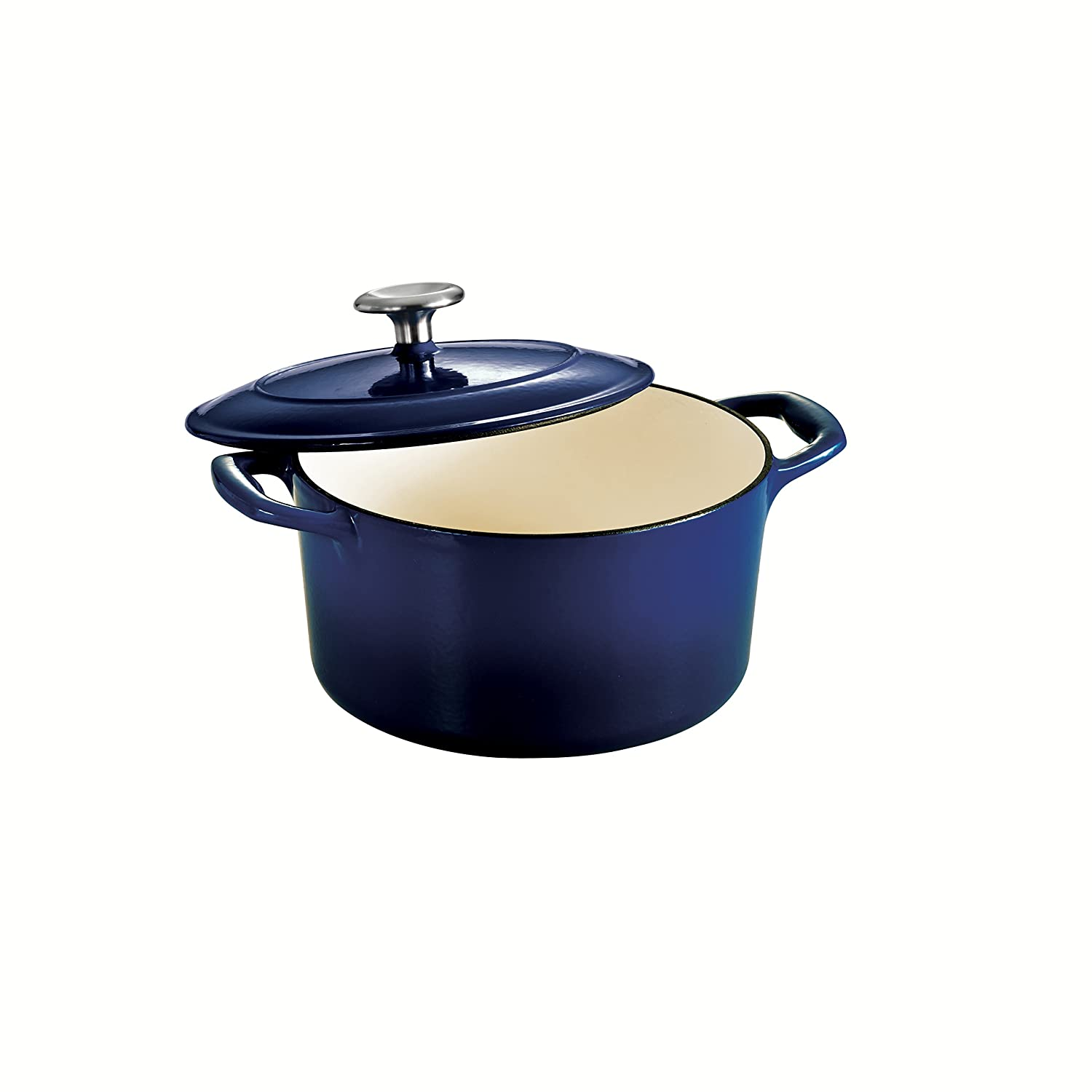 Tramontina 80131/074DS Enameled Cast Iron Covered Round Dutch Oven, 3.5-Quart, Gradated Cobalt