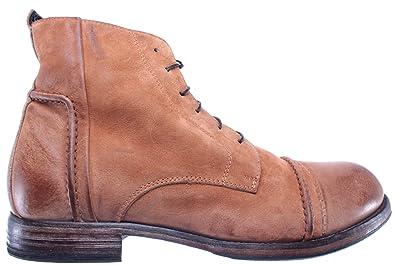 MOMA Herren Schuhe Stiefeletten 64702R1 Pelle Ambra Amber