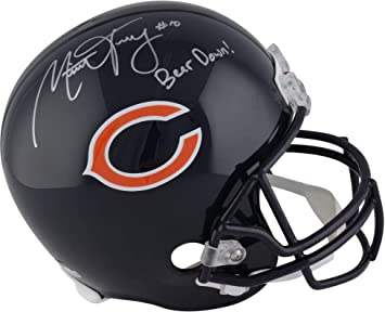 Amazon.com  Mitchell Trubisky Chicago Bears Autographed Riddell Replica  Helmet with Bear Down Inscription - Fanatics Authentic Certified  Sports ... 988e5ad55