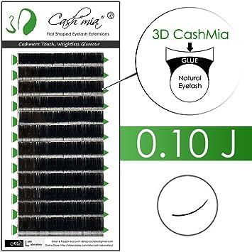 17fab15ba91 Amazon.com : [0.10 J] Cashmere Flat Shaped X-wrap 3D Volume Effect  Individual Eyelash Extension Semi Permanent (0.10 J 15mm) : Beauty
