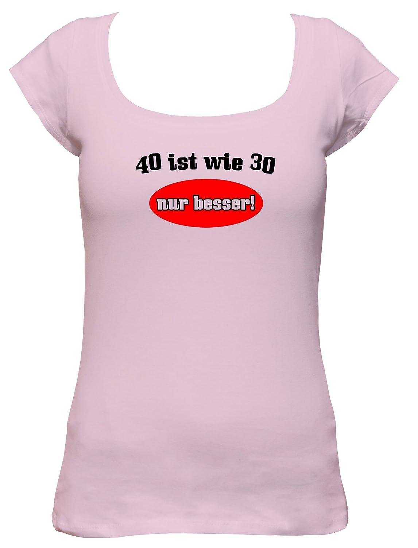 40 es como 30 solo mejor. Fun Camiseta de 40 años con texto ...