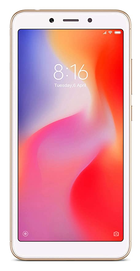 Mi Redmi 6A (Gold, 2GB RAM, 16GB Storage)