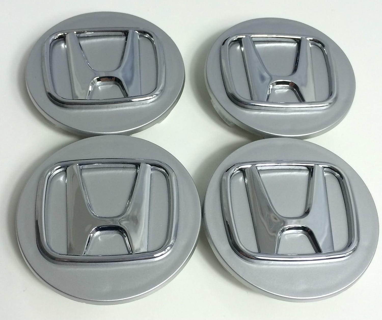 x4 Alta Calidad Honda 70 mm aleación Rueda Badge Plata Cromo Logo Emblema Mediados Hub - Tapas Accord Cr-V Civic Jazz Legend y otros modelos: Amazon.es: ...