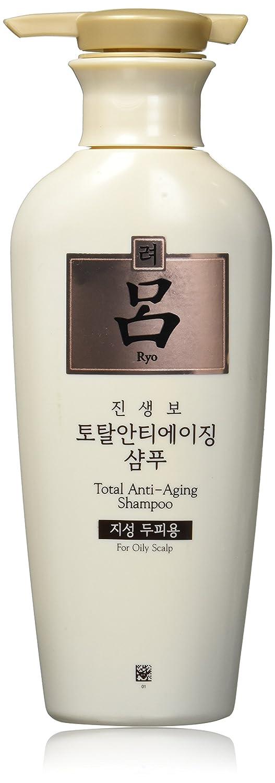 Ryoe Korean Jinsaengbo Total Anti Aging Shampoo For Oil Scalp, White, 13.5 Ounce Mainspring America Inc. DBA Direct Cosmetics