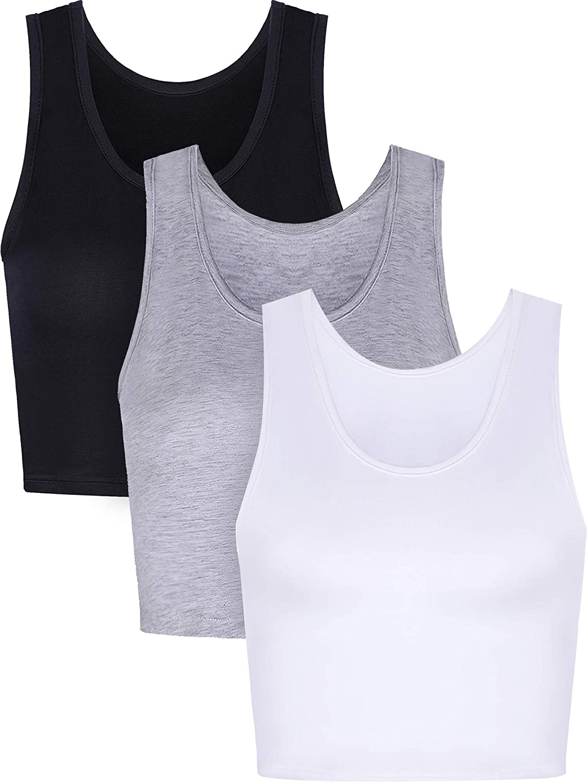 Amazon.com: Boao - Camiseta sin mangas de algodón para mujer ...