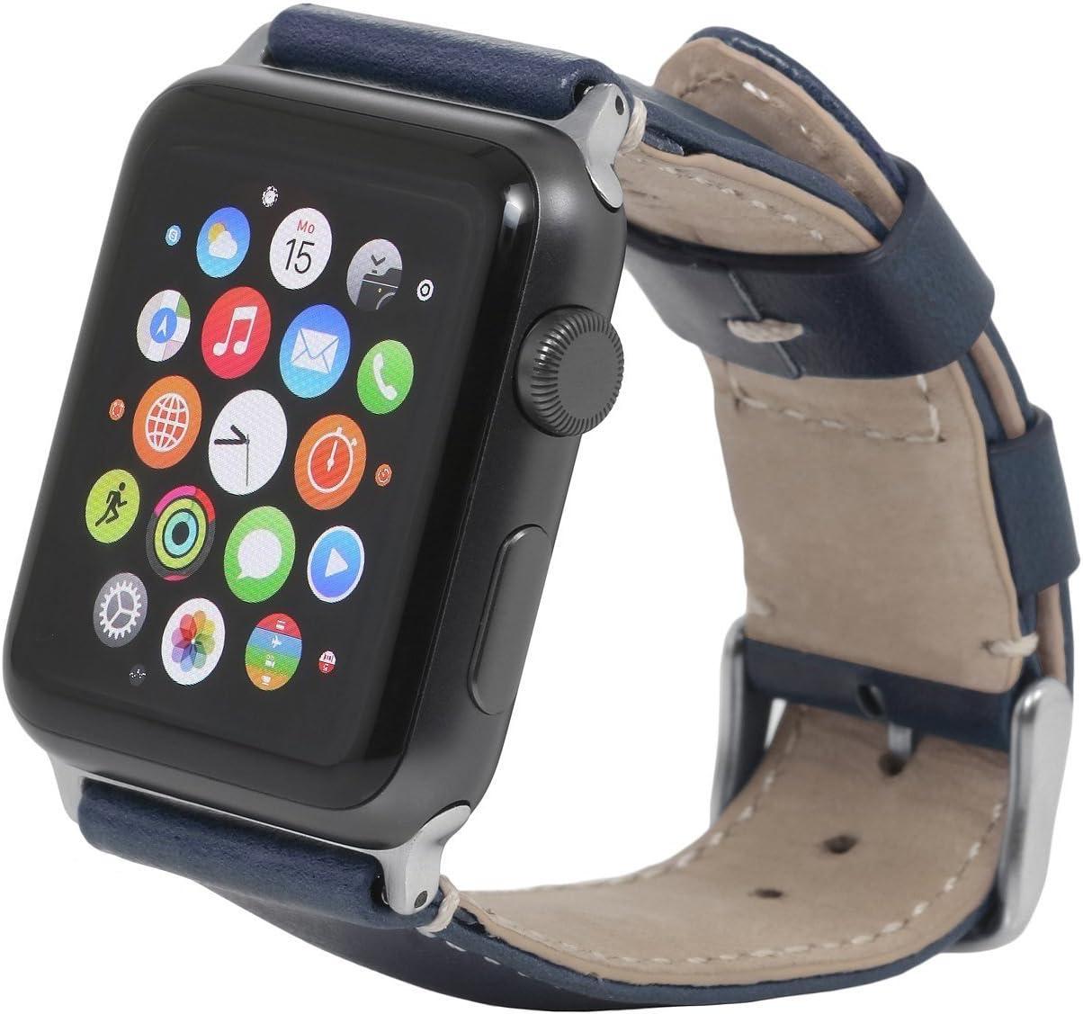 Stilgut Watch Strap Leder Uhrenarmband Kompatibel Mit Elektronik