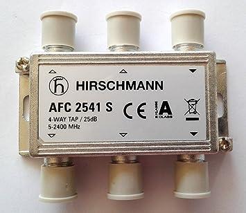 Hirschmann - Derivador 4 salidas 25 dB banda 5-2.400 MHz ...