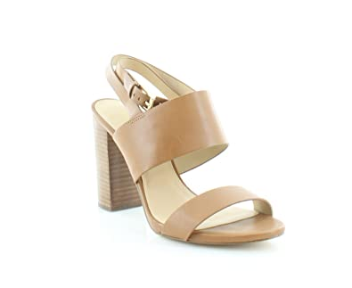 c20158e9b3a Image Unavailable. Image not available for. Color  Michael Kors Arden High  Block Heeled Sandals Acorn Size 10 M US