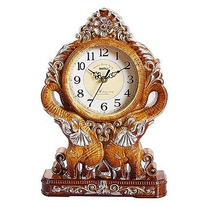 Fireplace Clocks Familiar Mute Clock, Vintage Desk Clock, Decorative Bedroom Living Room Suitable for