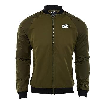 innovative design 6d8c9 90d6e Nike Herren Sportswear Jacke, Herren, Olive CanvasBlackWhite, Medium