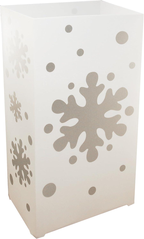 Lumabase Snowflake 32712 10 Count Plastic Lanterns, White