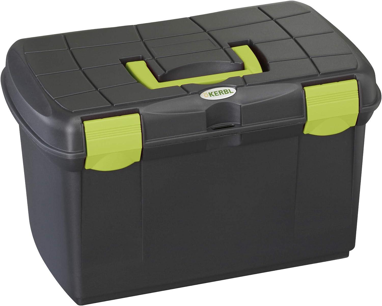 Kerbl Caja de Limpieza Arrezzo Negro/Pistacho con Inserto extraíble