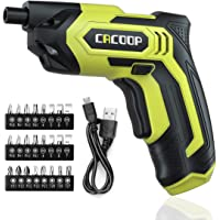 CACOOP Electric Cordless Screwdriver Set (CSD04004), 4V Rechargeable Small Battery Power for women or men included 24…