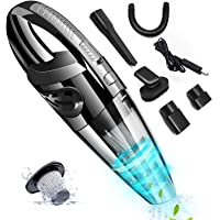 Hand Vacuum, Rabbitstorm Handheld Vacuum Cordless USB Charging with Washable Filter, Wet and Dry Vacuum Cleaner with…