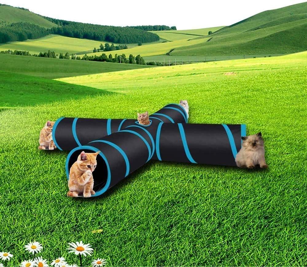con bolsa de almacenamiento para gatos gatitos conejos #XZ cachorros perros juguete para mascotas grande para interiores y exteriores plegable T/únel de 4 v/ías para gato