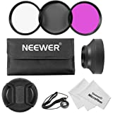 Neewer® 49MM Essential Lens Filter Kit for SONY Alpha A3000 and NEX Series (NEX-3 NEX-5 NEX-5N NEX-6 NEX-7 NEX-F3) Cameras, Kit includes: (3)49MM Filter Set(UV, CPL, FLD) + (1)49MM 3-in-1 Collapsible Design Rubber Lens Hood + (1)49MM Center Pinch Lens Cap with Cap Keeper Leash + (1)Filter Carrying Pouch + (2)Microfiber Lens Cleaning Cloths