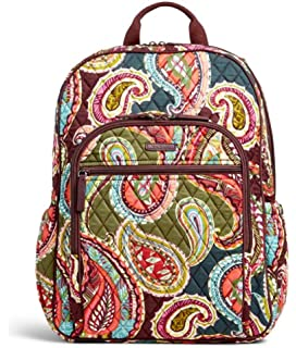 Vera Bradley Quilted Signature Cotton Campus Tech Backpack (One Size,  Heirloom Paisley) 53bd3b40d7