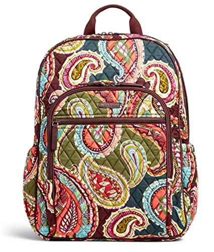 a7385f7f677c Amazon.com  Vera Bradley Quilted Signature Cotton Campus Tech Backpack  (One Size