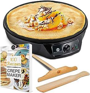 "G&M-Kitchen-Essentials-Nonstick-12""-Electric-Crepe-Maker"