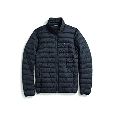 60476689 Tommy Hilfiger Adaptive Men's Insulated Jacket with Magnetic Zipper, Navy  Blazer Small