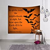 3D Happy Halloween Wallhaning Tapestry,Napoo 2017