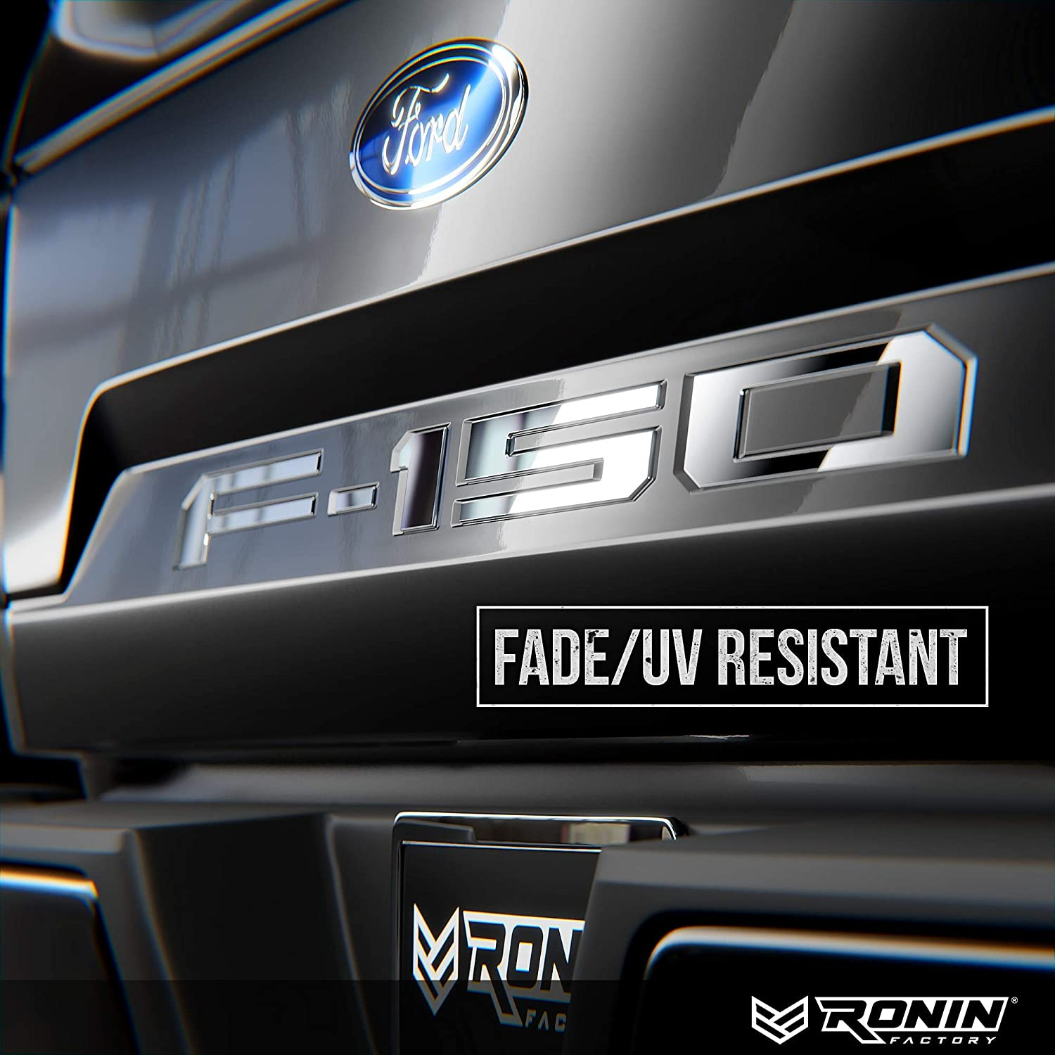 Chrome THICK PLASTIC by RONIN FACTORY F-150 TAILGATE LETTERS