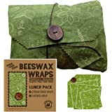 f2e5c861cb Beeswax Wraps Lunch Kit Food Storage Pack for School or Office - 1 Small