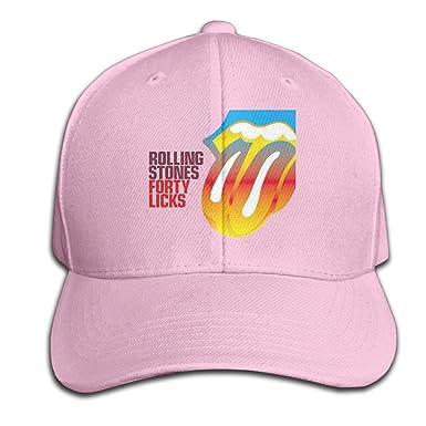 4150200101c Guns Hats Rolling Stones Forty Licks Black Golf Match Cap - Pink ...