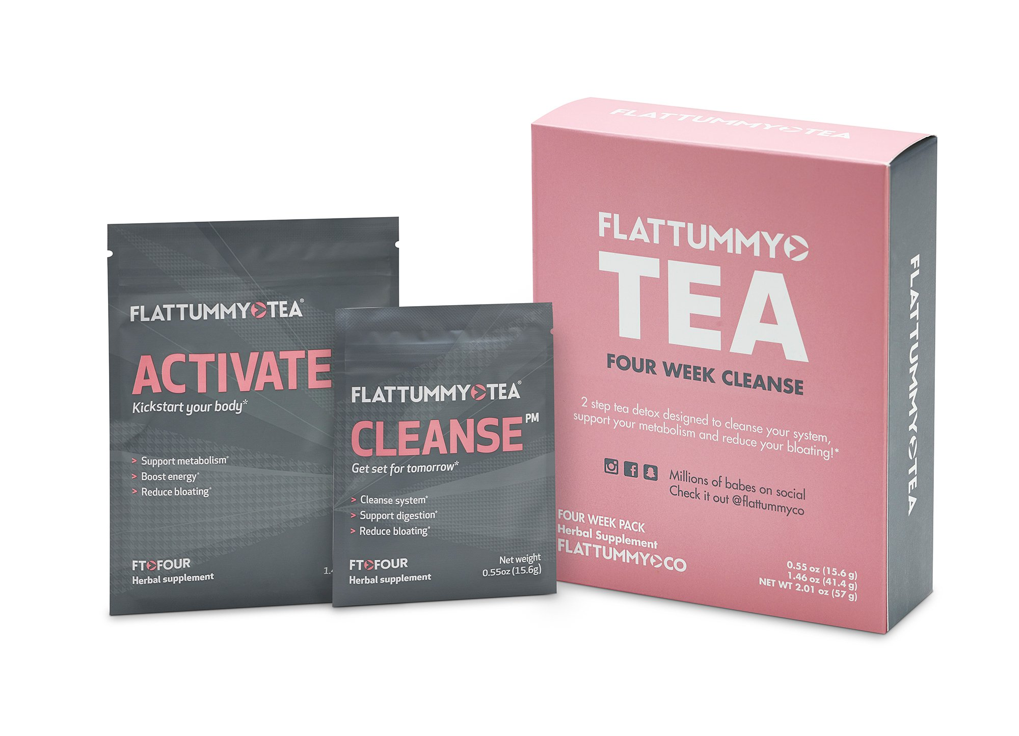 Flat Tummy Tea 4-Week Detox Herbal Tea to Help Kick That Bloated and Sluggish Feeling by Flat Tummy Tea